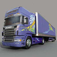 3d 3ds scania truck