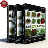 c4d shrubs vol4 collections bush