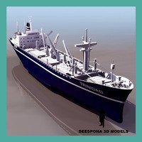 trinidad lines cargolinier vessel ship 3d model