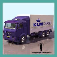 3d european mercedes truck model
