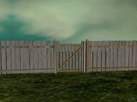 3d model scene gate fenced