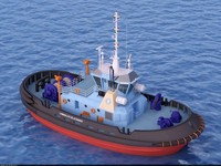 3d model tugboat blackbird