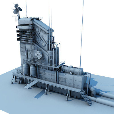 3d communication center model - communication center... by MIM3d