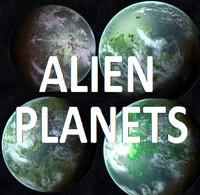 3d pack alien planets model
