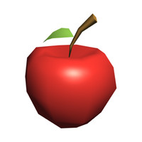 low poly red apple