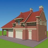 house garages 3d ma