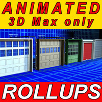 Garage Rollup Animated Doors 01