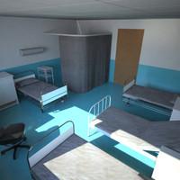 3d model of hospital room