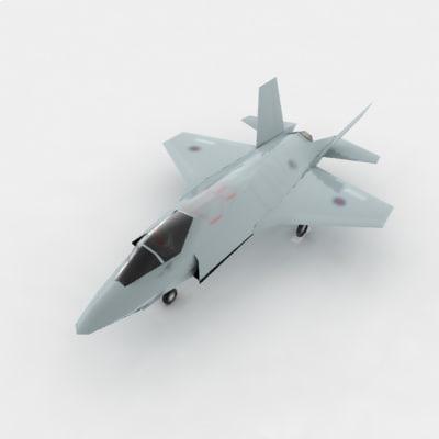 3d f 35 fighter jet jsf model