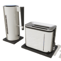kettle toaster set 3d ma