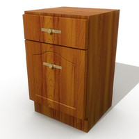 kitchen drawers 3d model