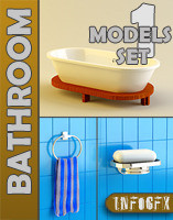 Set 01 BathRoom Furniture - 3ds.zip
