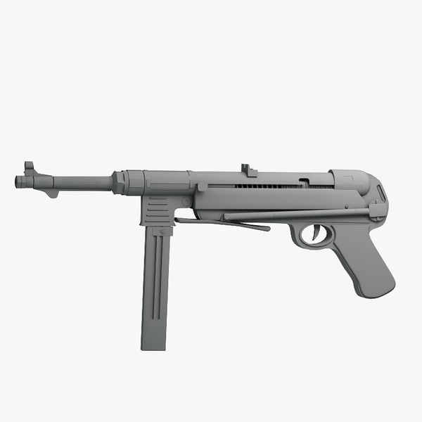 german mp40 pistol max - mp40... by Sandu_Bublic