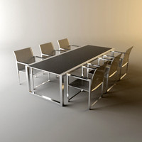 chair table garden 3d model