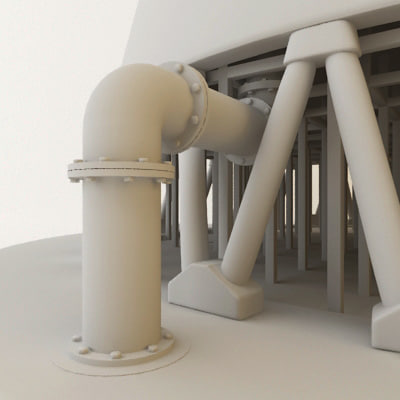 Model Water Tower Water Cooling Tower 3d Model