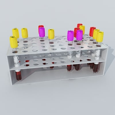 3d blood sample rack model - Blood_Sample_rack.zip... by Giimann