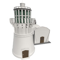 lighthouse light 3d 3ds