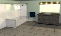 3d bathroom tub shower model