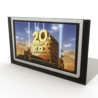 3d model of flat television