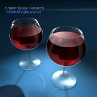 wine glasses 3ds free