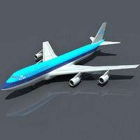 b 747 klm dwg