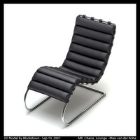 mies van leather 3d max