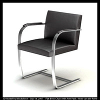 MR Flat Brno Chair with Arm Pads
