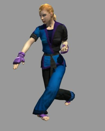 3d black karate girl cynthia model - Karate Cynthia... by mindcutter