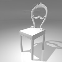 Designer chair with baroque modern style