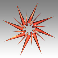 Christmas Ornament Shiny Glass Star