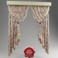 italian curtain 3d max