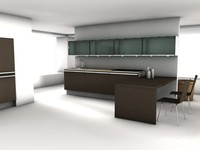 cinema4d modern kitchen
