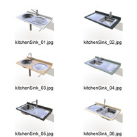 kitchen sinks 3d ma
