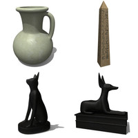 3d model egypt objects statue