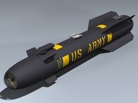 agm-114a hellfire missile 3d max
