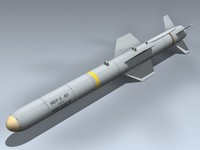 agm-84e slam missile 3d model
