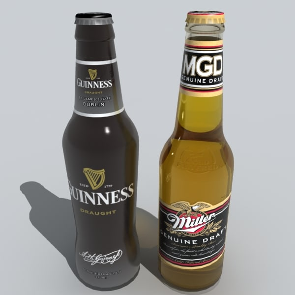 3d beer bottles - beer bottles... by DigitalX