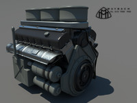 3d engine maybach tank model