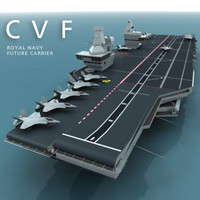 cvf - royal navy 3d model