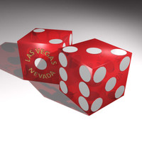 craps dice 3d model