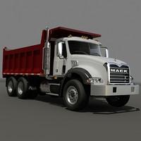3d dump truck mack model