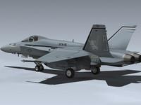 3d f a-18a hornet vfa-15 model