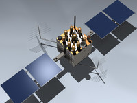 3d gps satellite