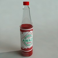 3d hot sauce model