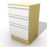 kitchen drawers 3d ma
