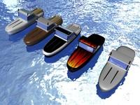 motor boats 3d model