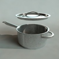 3d model cooking pot
