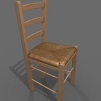 3dsmax wood rush chair