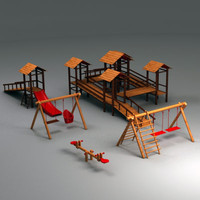 wooden playground elements max