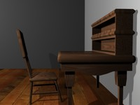 study desk chair 3d max
